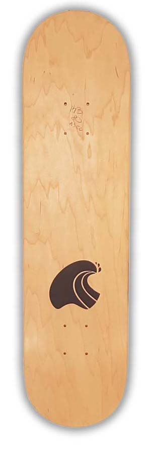 Skateboard Dropinboards Logo Natural