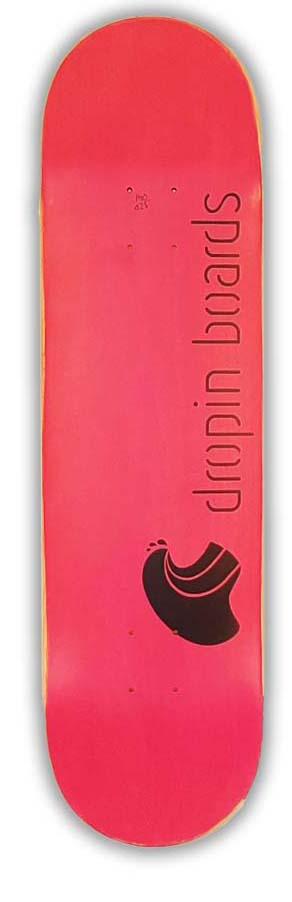 Skateboard Dropinboards + Logo Pink